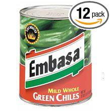 - 12 PACKS : Embasa Diced Green Chiles Mild