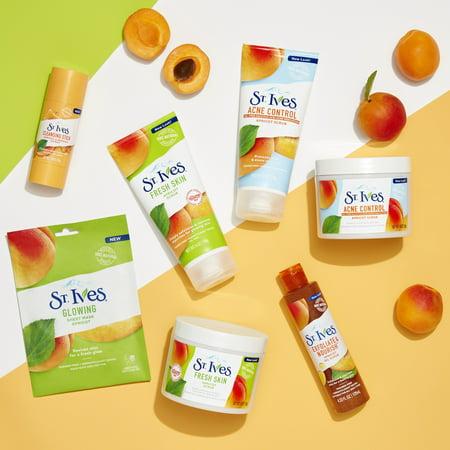 (2 pack) St. Ives Fresh Skin Face Scrub Apricot 10 oz