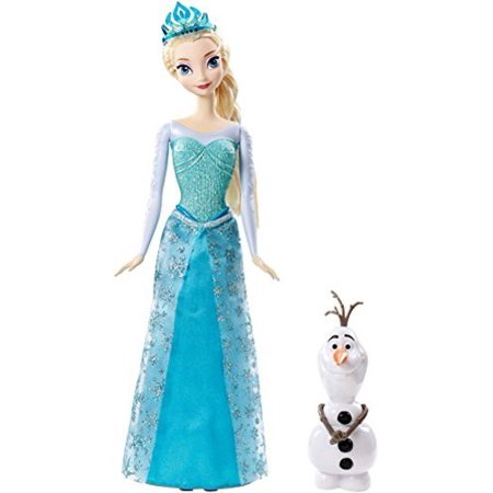 Disney Frozen Sparkle Princess Elsa and Olaf Doll Gift Set Multi-Colored