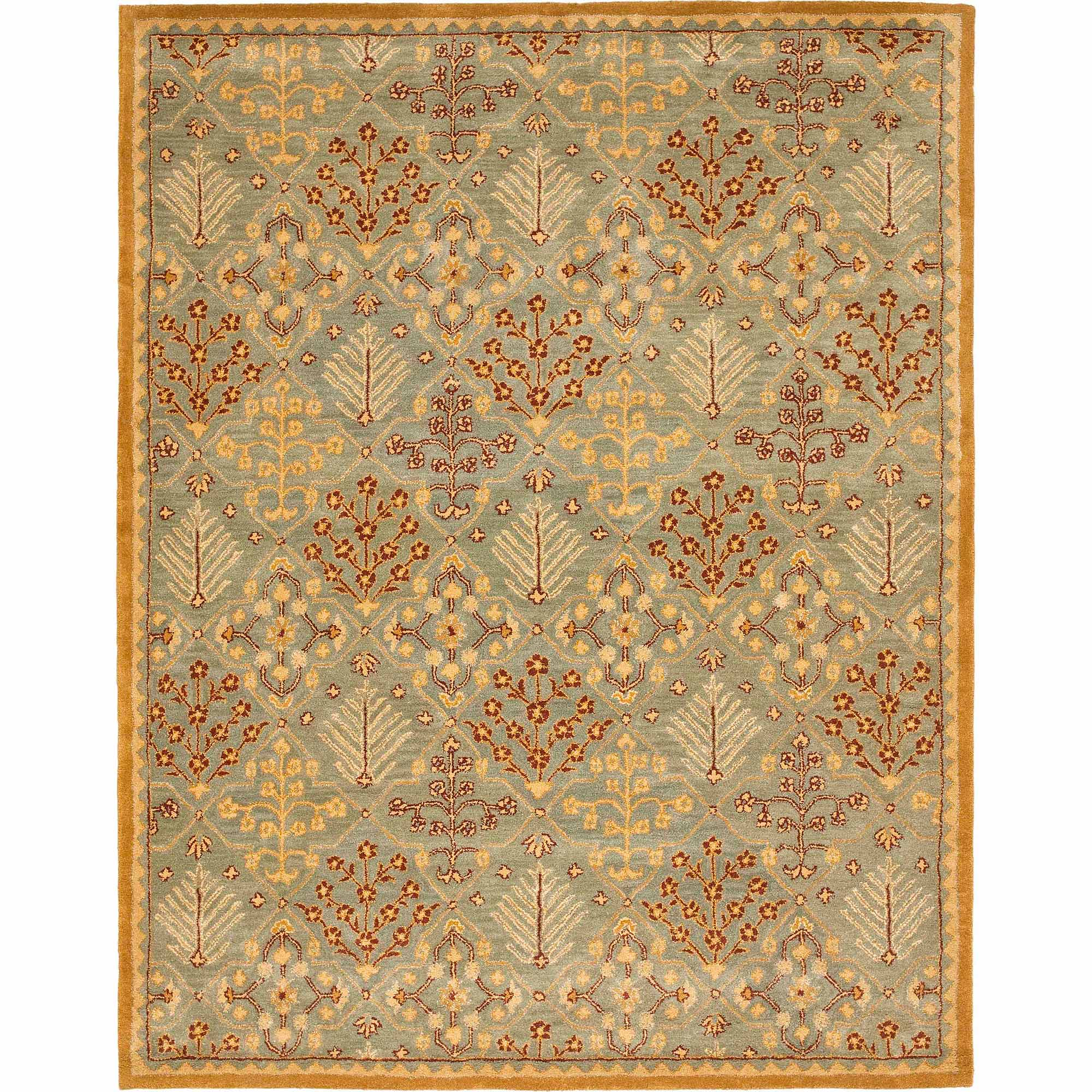 Safavieh Antiquity Raymond Hand-Tufted Wool Area Rug, Light Blue/Gold