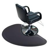 """Jaxpety Salon Floor Mat Salon Chair Mat, 3ft. x 5ft. Semicircle 1/2"""" Thick Mats Salon & Barber Shop Anti -Fatigue Floor Mat, Black"""