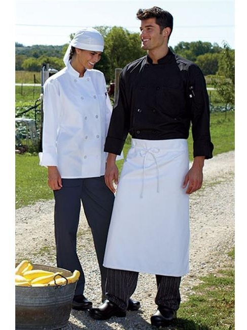 Uncommon Threads 0413-2005 Classic 5.25 oz. Poplin Chef Coat in Royal - Extra Large