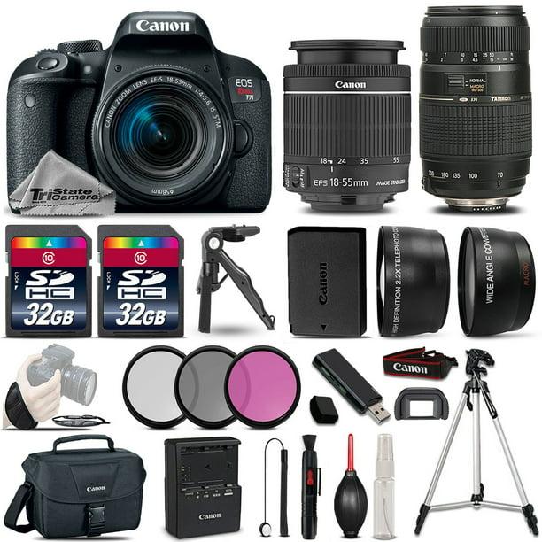 Canon EOS Rebel T7i 800D 24.2MP DSLR Camera w/ 18-55mm and 70-300mm Lens Bundle