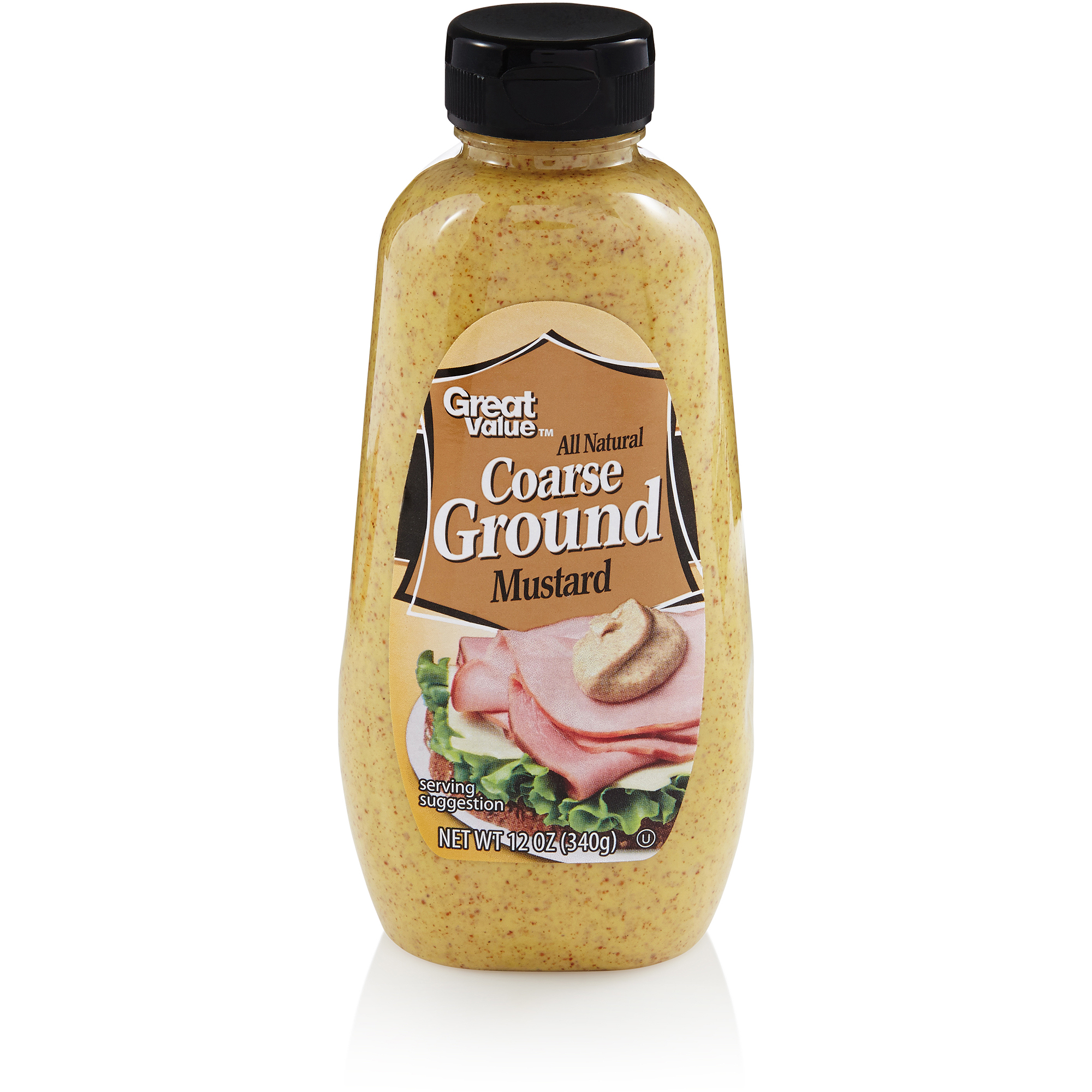 Great Value All Natural Coarse Ground Mustard, 12 oz