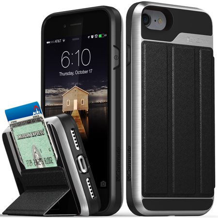 low priced da122 1b31e iPhone 8 Wallet Case, iPhone 7 Wallet Case, Vena [vCommute][Military Grade  Drop Protection] Flip Leather Cover Card Slot Holder with KickStand for ...