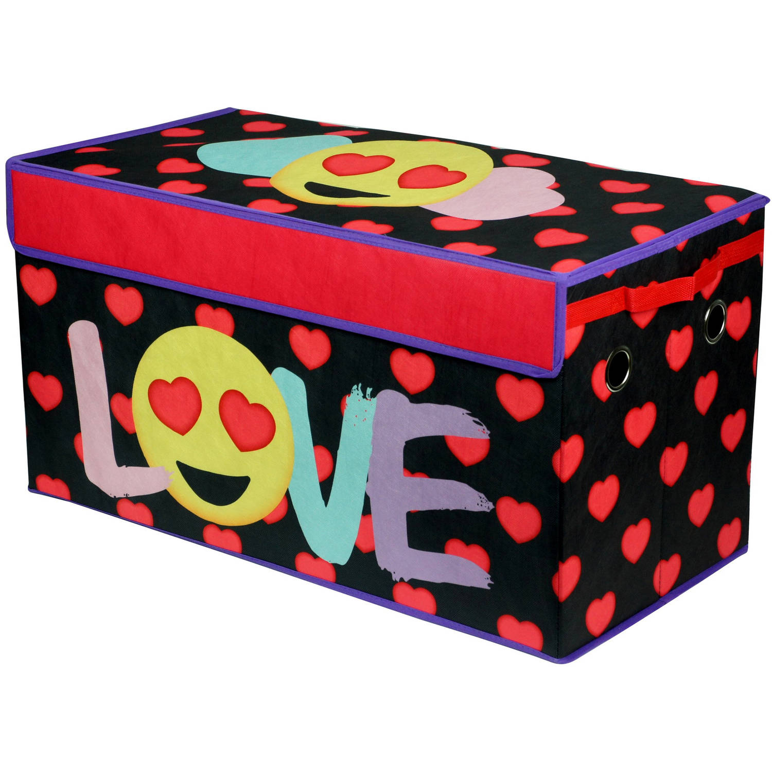 EmojiPals Love Oversized Soft Collapsible Storage Toy Trunk