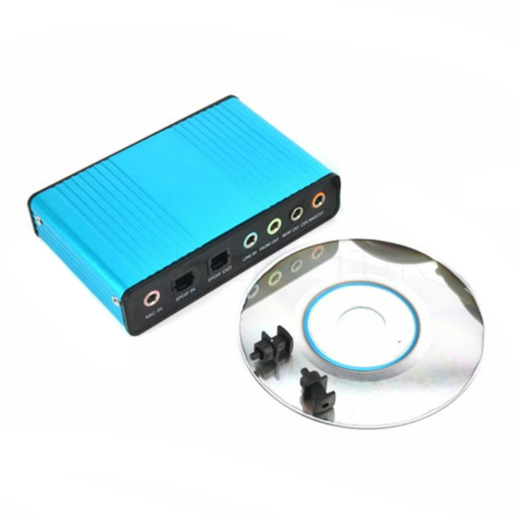USB External Optical Audio 6 Channel 5.1 Sound Card Adapter Laptop//Computer//PC