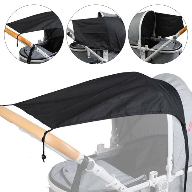 Stroller Sun Shade, Baby Sleep Aid and Sun Cover for Strollers , Stops 99% of The Sun's Rays (UPF50+), Breathable Universal fit