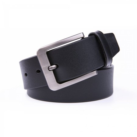 Dress Belt Men, 1.5 Wide Real Leather Classy Comfy Casual Belts For Men - Black (Mens Back Belt)