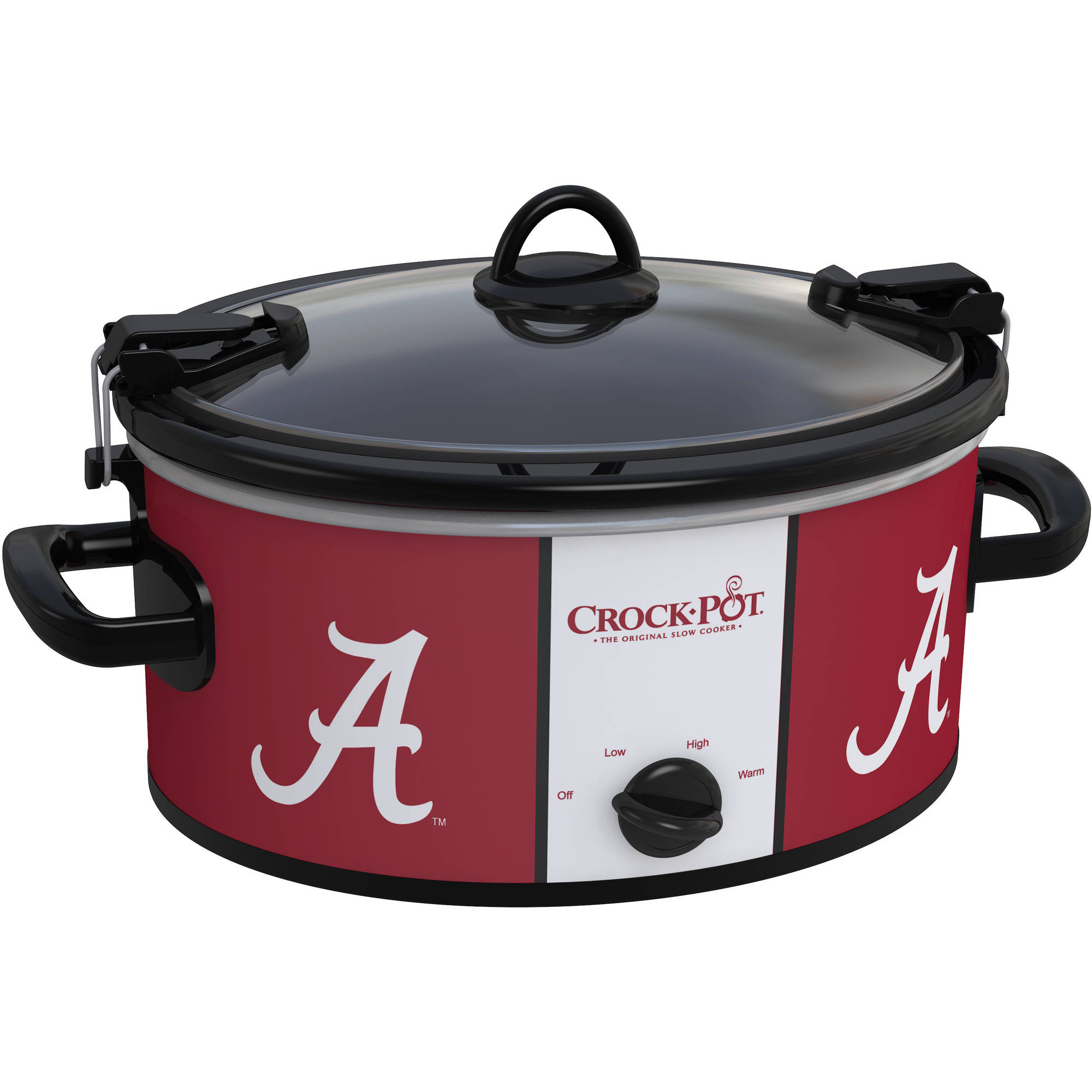 Crock Pot 6 Quart Cook & Carry Kitchen Slow Cooker Warmer, Alabama Crimson Tide