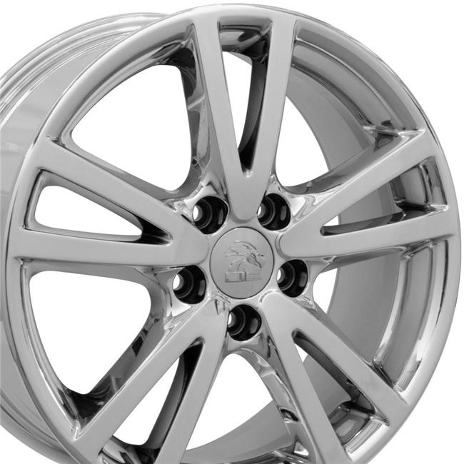 VW23-17070-5112-54CPVD 17 x 7 in. Style Wheel Replica, PVD Chrome for VW Volkswagen Jetta
