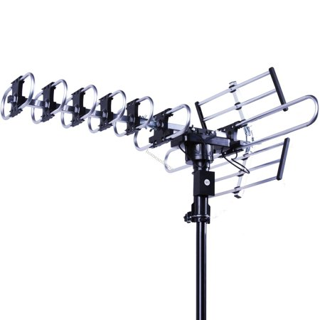 Five Star  Outdoor 4K HDTV Antenna Long Range Auto Gain Control Long Range with Motorized 360 Degree Rotation