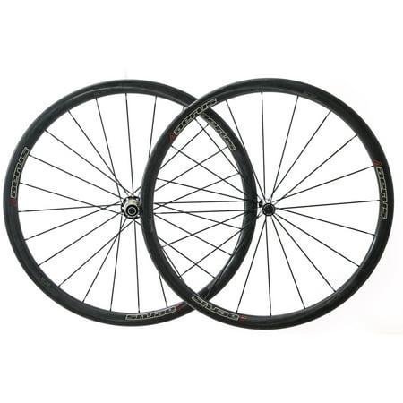 Aerus Quantum SL35 Carbon Carbon Clincher 700c Road Bike Wheelset 8-11s