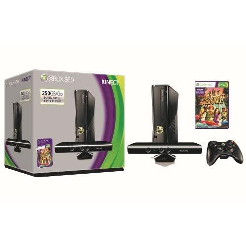 Refurbished Microsoft Xbox 360 S 250GB System Kinect Bundle