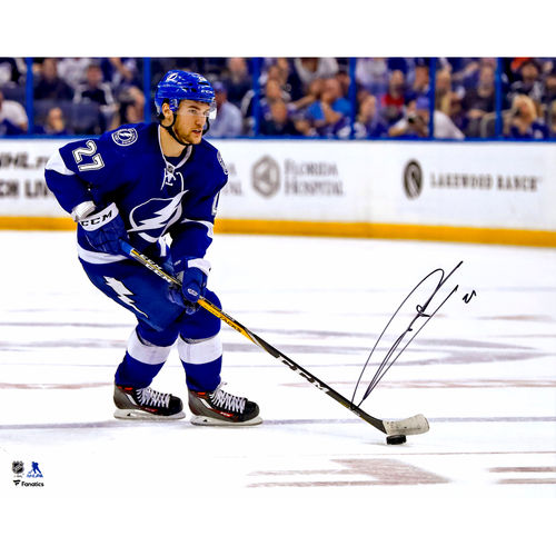 Jonathan Drouin Tampa Bay Lightning Autographed 16'' x 20'' Blue Jersey Skating Photograph No Size by Fanatics Authentic