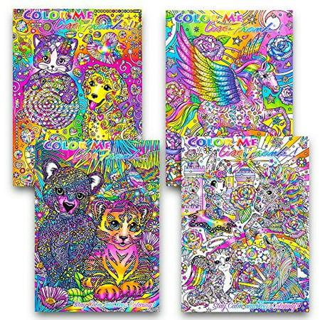 Color Me Lisa Frank Adult Coloring Book Set Of 4 2016 Just