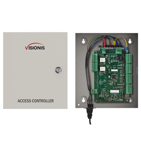 Visionis VS-AXESS-2ETL Two Door Network Access Control Panel Controller Board with Cabinet TCP IP Wiegand with Desktop Software and Power Supply Included 10,000 Users (Cabinet Software)