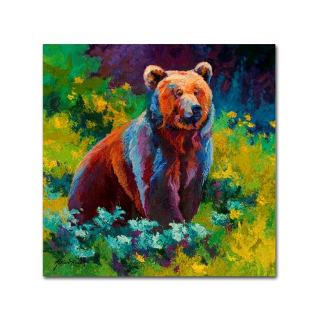 Trademark Fine Art 'Wildflower Grizz' Canvas Art by Marion Rose (Wildflowers Rose)