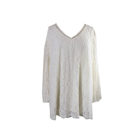 Style & Co. Plus Size Lace Swing Top 0X - Lace Swing Top