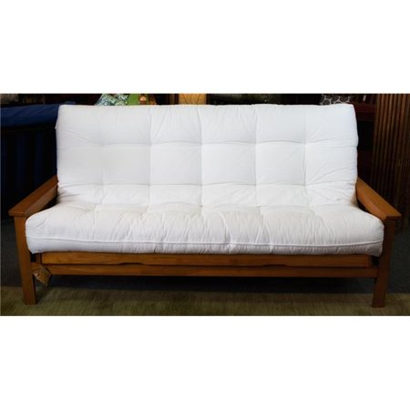 Deluxe Futon - Naturally Sleeping CCF-03-Ch39 39 in. Chair Size Deluxe with Wool Futon Mattress