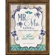 Framed Art-Mr & Mrs-Love Is Where Our Story Begins... (Wedding Collection)