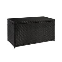 Best Choice Products Outdoor Wicker Patio Furniture Deck Storage Box for Cushions, Pillows, Pool Accessories - Black