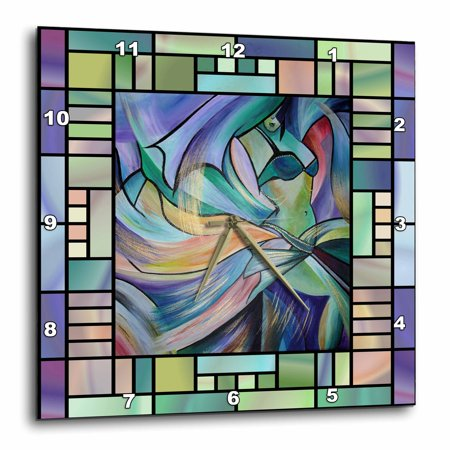 3dRose Art deco Dancer - dance, dancing, belly dance, bellydance, oriental dance, middle eastern dance, , Wall Clock, 10 by 10-inch