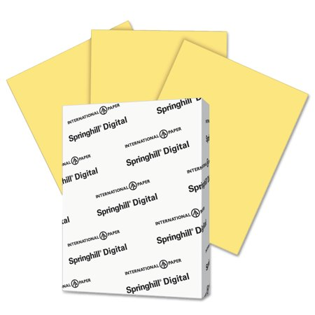 - Springhill Digital Index Color Card Stock, 90 lb, 8 1/2 x 11, Buff, 250 Sheets/Pack -SGH055100
