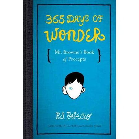 365 Days of Wonder: Mr. Brownes Book of Precepts by