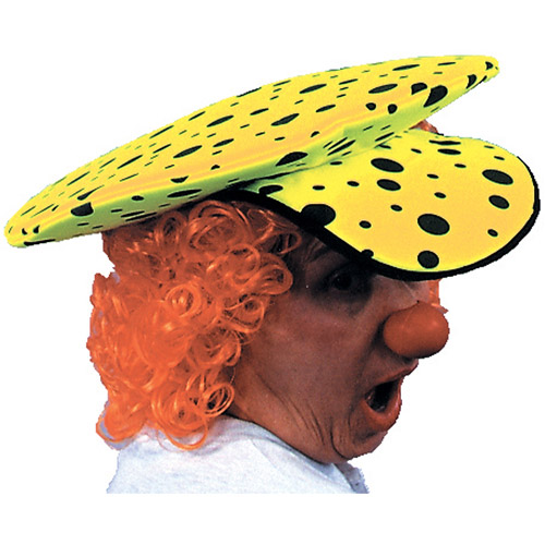 Neon Lime Green Clown Hat Adult Halloween Accessory