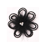 Expo Jeweled Feather Daisy Brooch