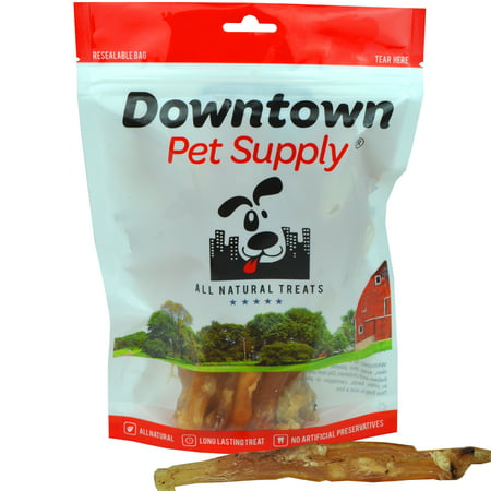 All Natural Beef Tendons Made in USA - Single Ingredient, Best Alternative to Bully Sticks, Healthy Dog Treats, 8