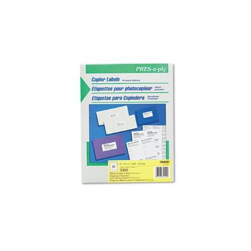 Pres-A-Ply Copier Labels, 1 x 2-3/4, White, 3300/Box