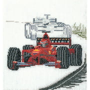 Thea Gouverneur Linen Counted Cross-Stitch Kit, Motor Racing