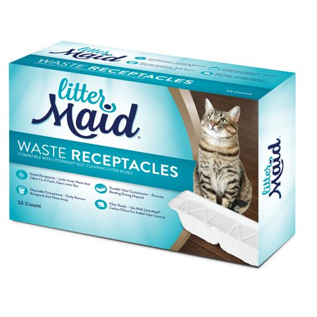 LitterMaid Cat Disposable Waste Receptacles, 12-Count