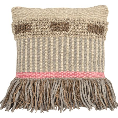 Foreside Home and Garden Hand Woven Cottage Decorative Pillow ()