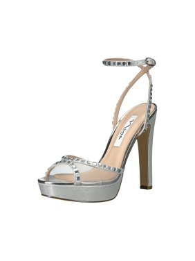 Nina Womens Myrna Open Toe Formal Ankle Strap Sandals