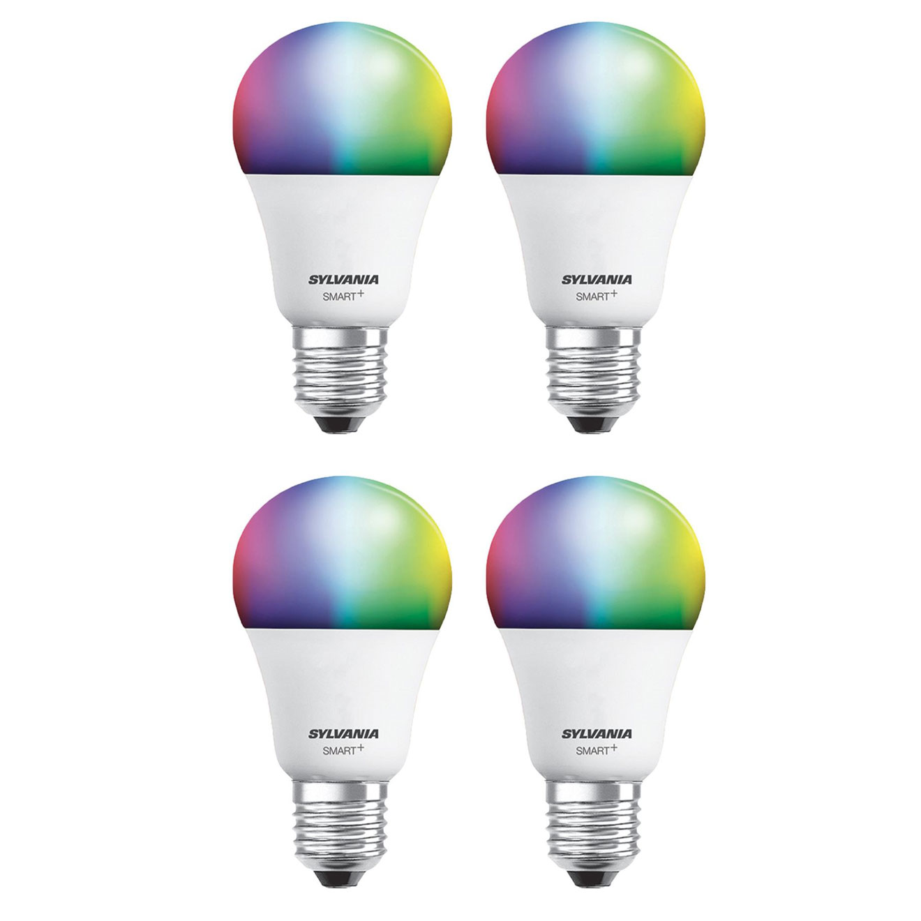 Sylvania Smart+ Bluetooth Full Color A19 LED Bulb for Apple HomeKit (4 Pack)