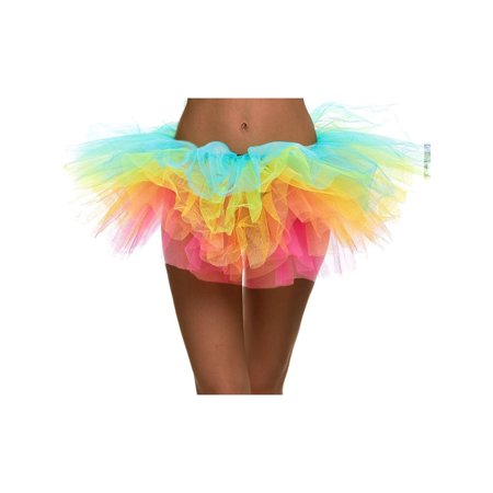 Women's Tulle Layered Ballerina Dancer Tutu Mini Skirt,
