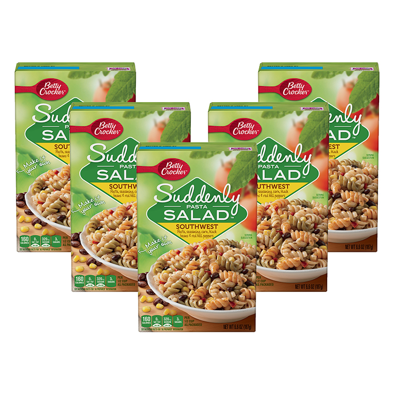 (5 Pack) Betty Crocker Suddenly Salad Southwest Pasta Salad Dry Meals 6.6 Oz