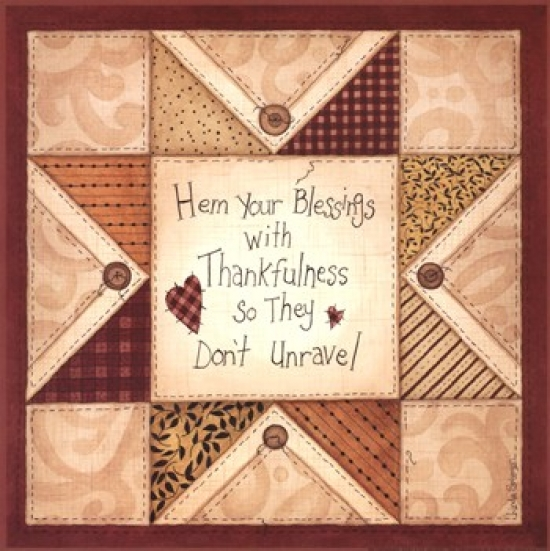 Hem Your Blessings Poster Print by Linda Spivey (12 x 12)