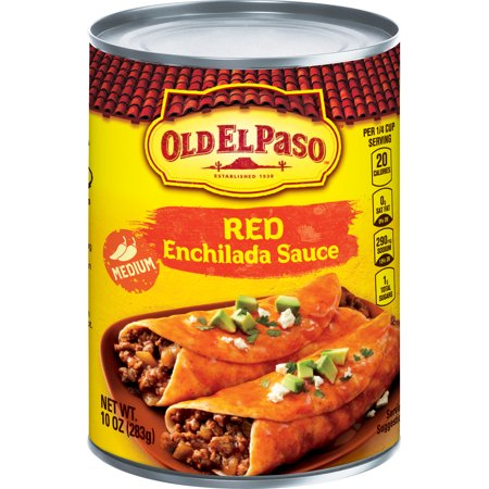 (4 Pack) Old El Paso Medium Enchilada Sauce, 10 oz Can