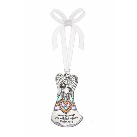 Under His Wings You Will Find Refuge Angel Ornament - By Ganz (Psalm - Angel Wing Ornaments