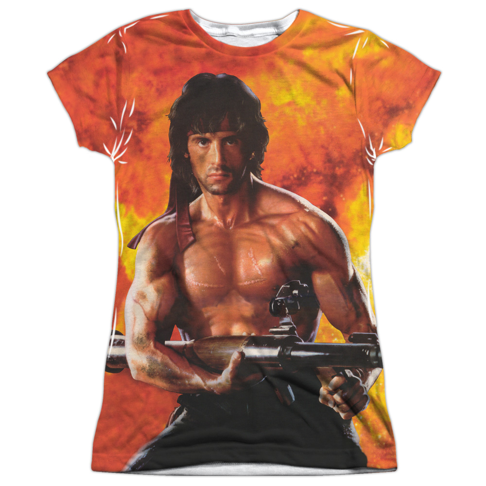Rambo: First Blood II Action Film Ripped Poster Juniors F...