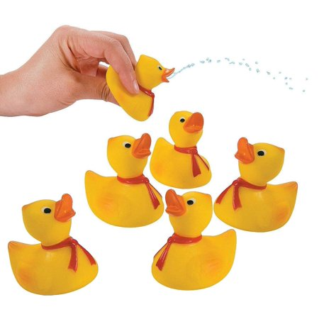Rubber Ducky Squirts Pack Of 12 2 Inches Cool And Fun Yellow