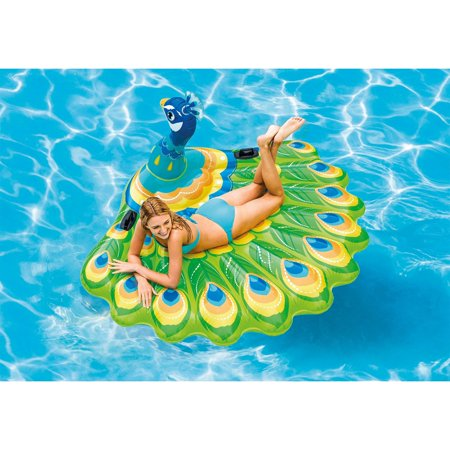 Intex Giant Inflatable Colorful Peacock Island Ride On Pool Float Raft (2 Pack) - image 1 de 5