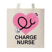 Charge Nurse Stethoscope Tote Bag Natural One Size