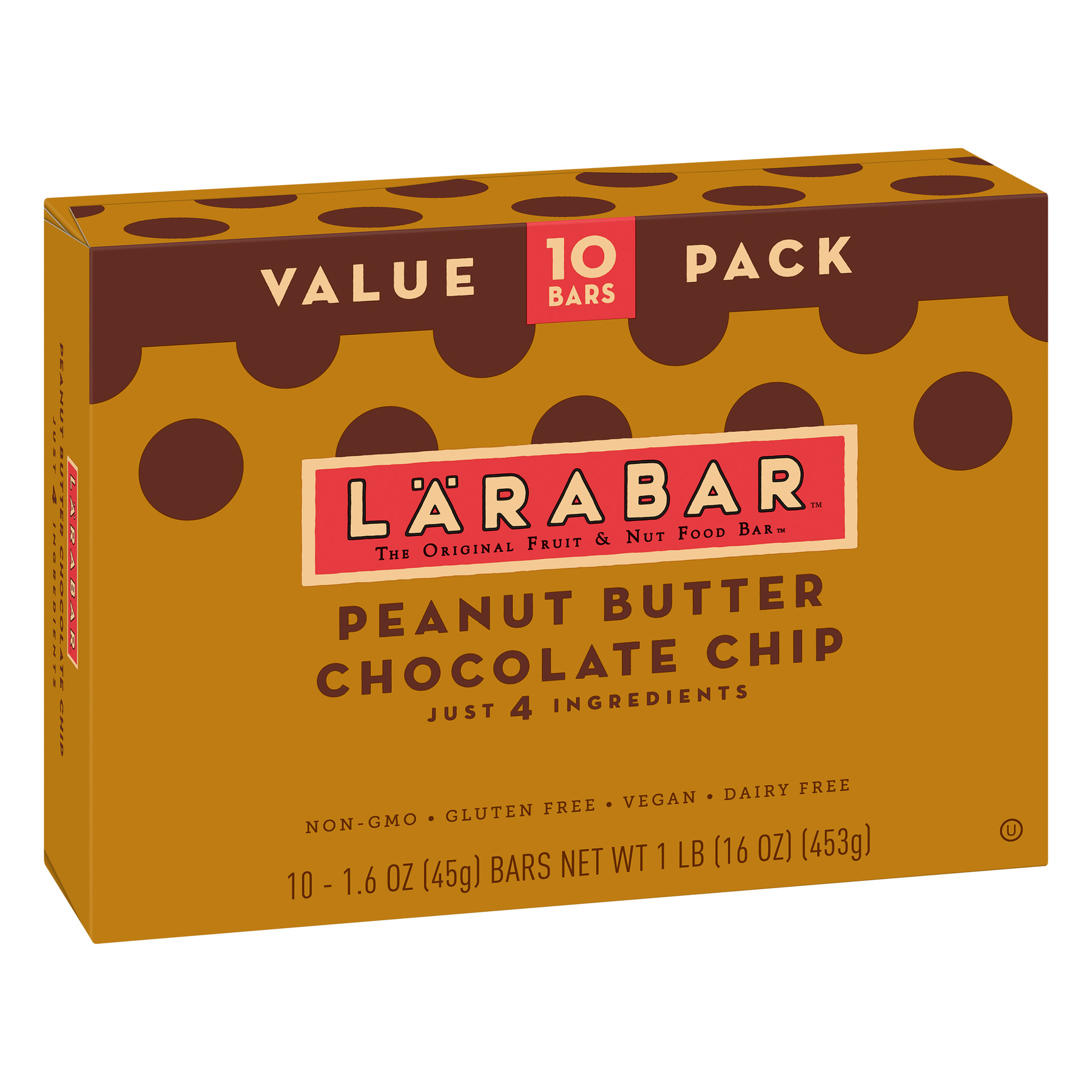 Larabar Gluten Free Peanut Butter Choc Chip Fruit & Nut Bars 16 oz