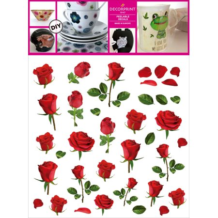 Decorprint Peelable Decals 7 75 X7 75 Smart Rose