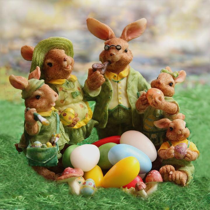 Framed Art For Your Wall Easter Bunny Family Decoration Easter Eggs Easter 10x13 Frame